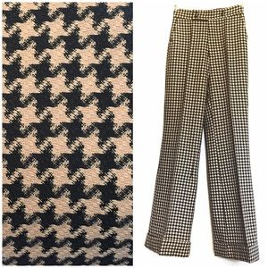 Price final 70s Houndstooth Flared Trousers